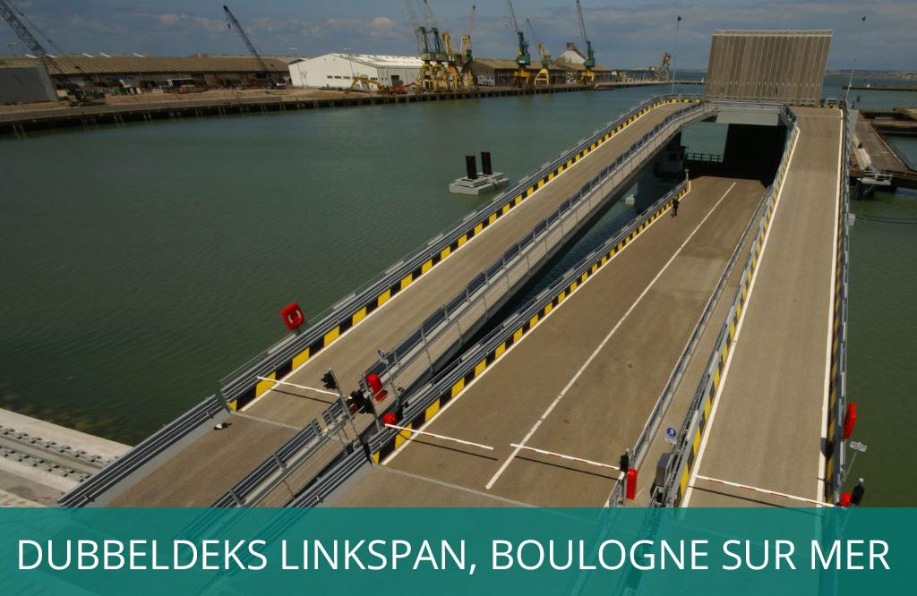 Dubbeldeks linkspan in Boulogne sur Mer