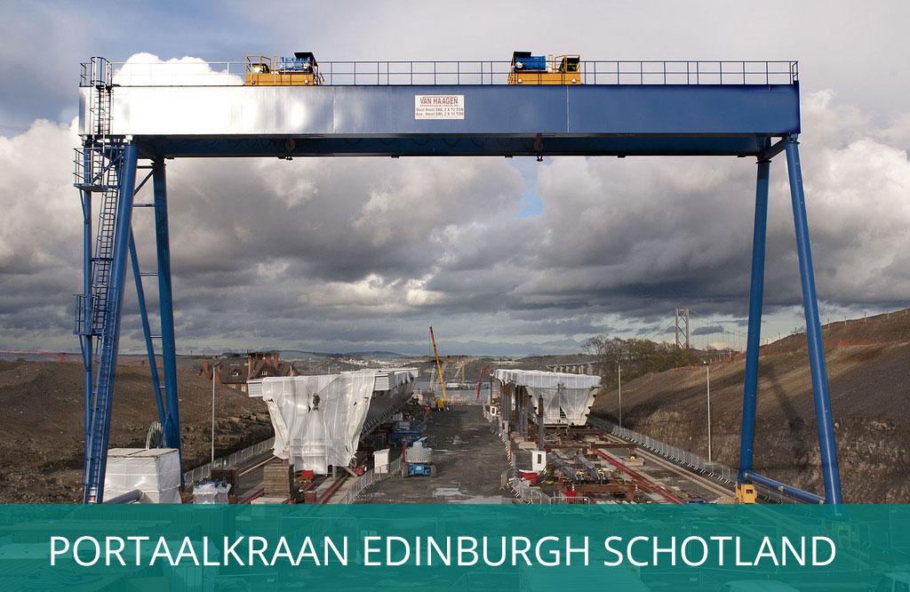 portaalkraan Edinburg Schotland